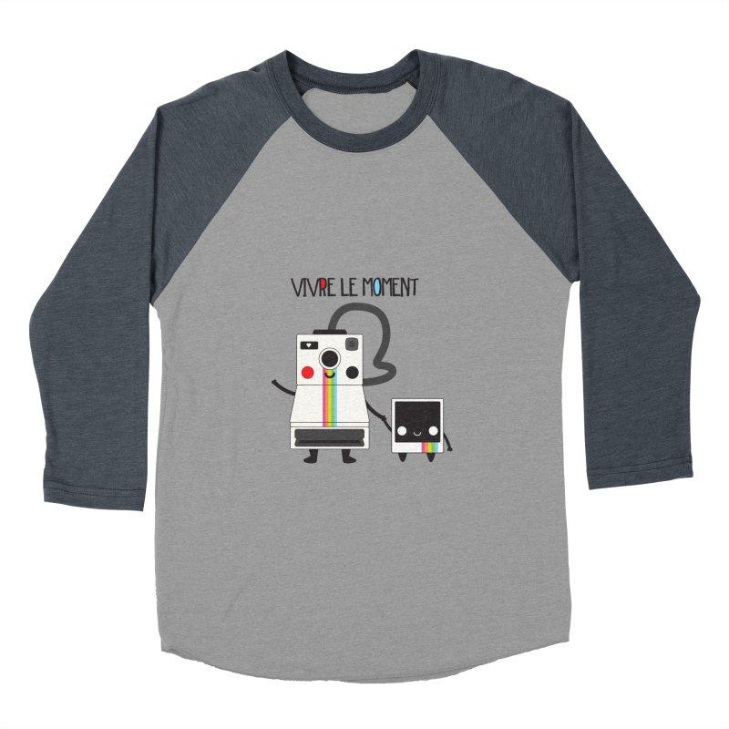 Vivre Le Moment Women's Baseball Triblend T-Shirt by strawberrystyle's Artist Shop
