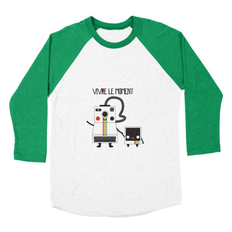 Vivre Le Moment Men's Baseball Triblend T-Shirt by strawberrystyle's Artist Shop