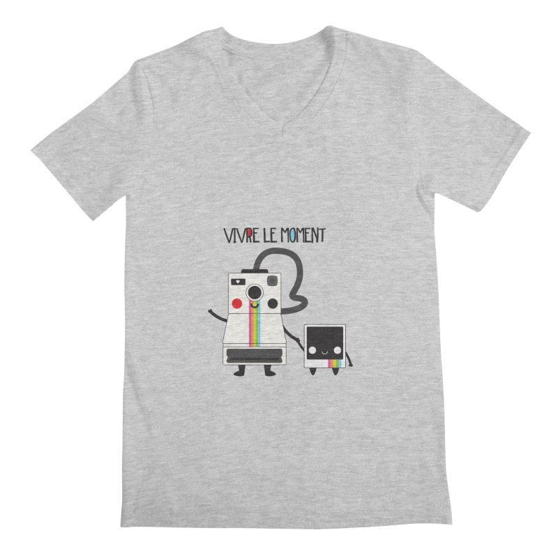 Vivre Le Moment Men's V-Neck by strawberrystyle's Artist Shop