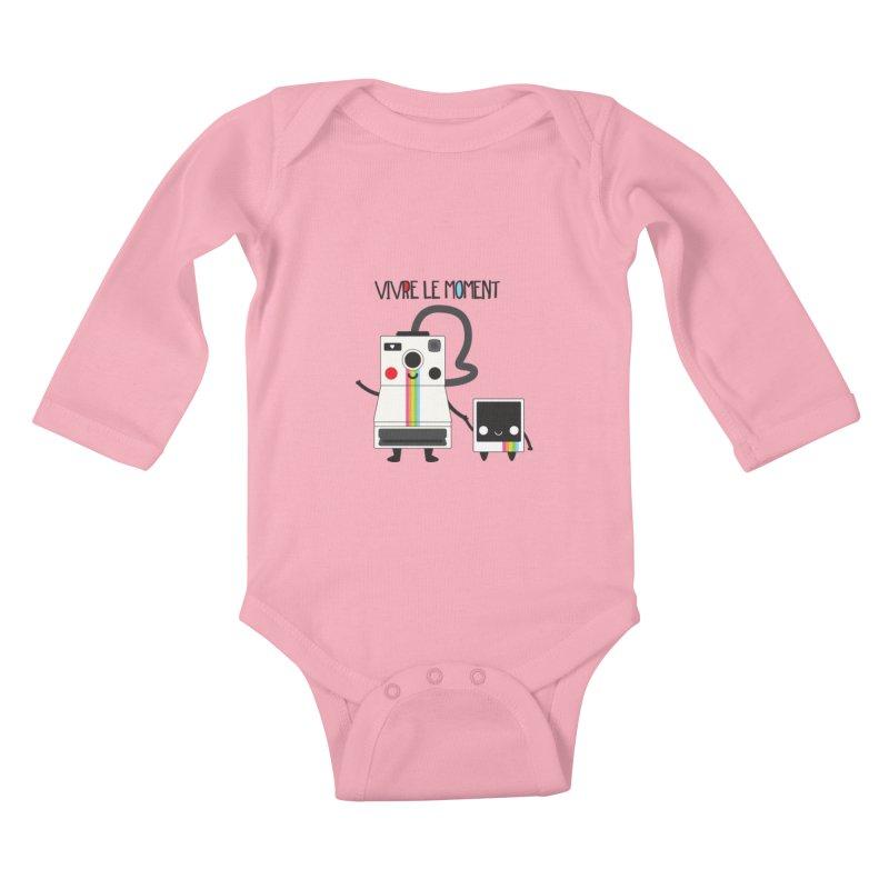 Vivre Le Moment Kids Baby Longsleeve Bodysuit by strawberrystyle's Artist Shop