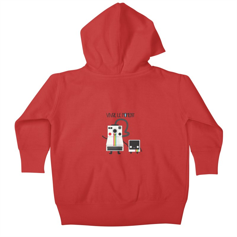 Vivre Le Moment Kids Baby Zip-Up Hoody by strawberrystyle's Artist Shop