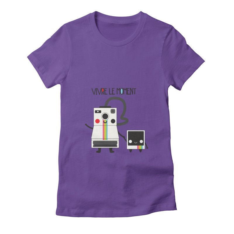 Vivre Le Moment Women's Fitted T-Shirt by strawberrystyle's Artist Shop