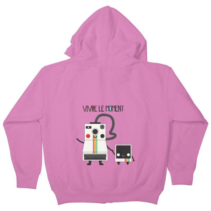 Vivre Le Moment Kids Zip-Up Hoody by strawberrystyle's Artist Shop