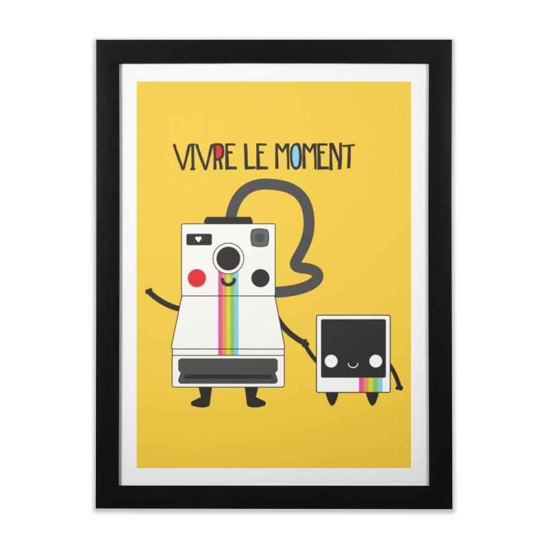 Vivre Le Moment Home Framed Fine Art Print by strawberrystyle's Artist Shop