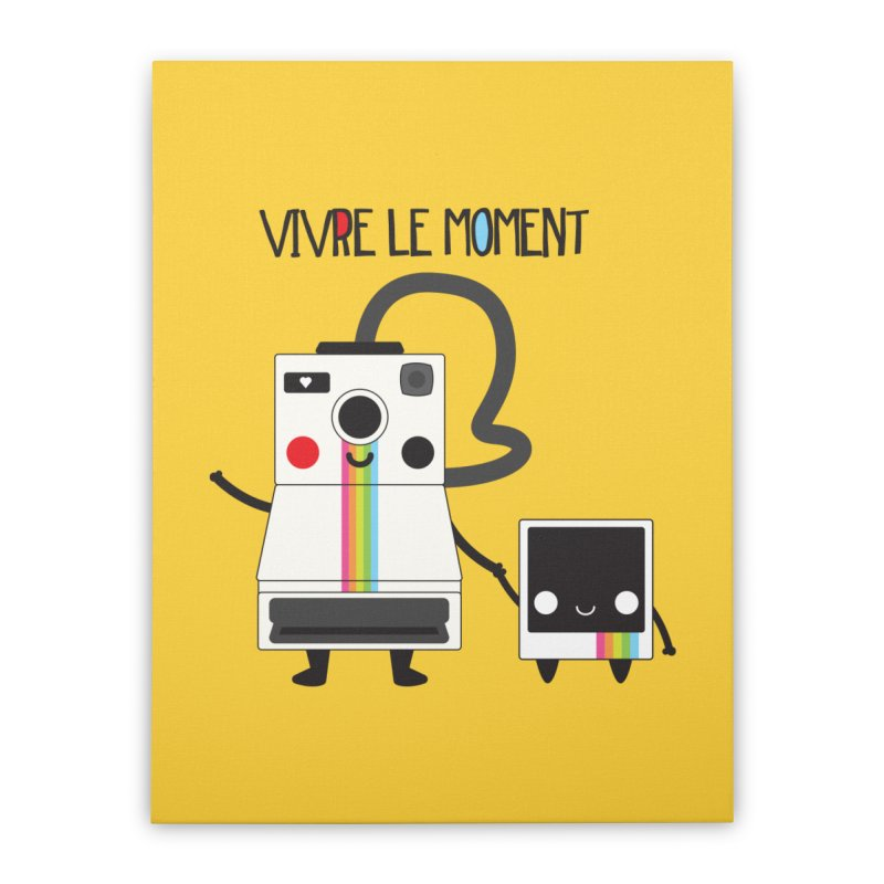 Vivre Le Moment Home Stretched Canvas by strawberrystyle's Artist Shop