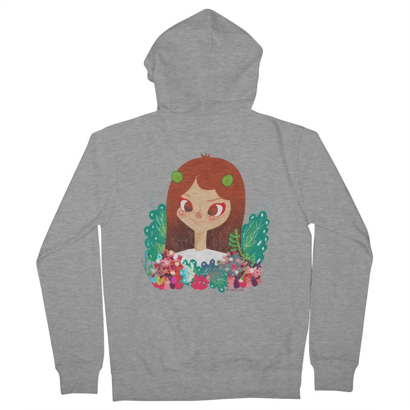 Floral Women's Zip-Up Hoody by strawberrystyle's Artist Shop