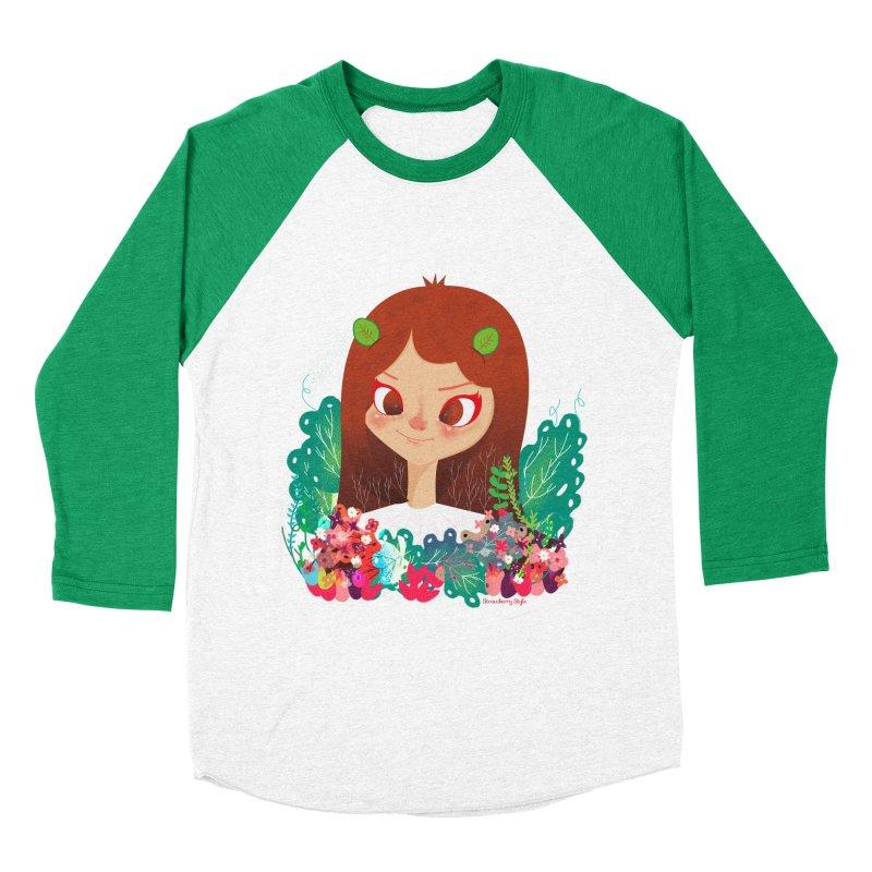 Floral Women's Baseball Triblend T-Shirt by strawberrystyle's Artist Shop