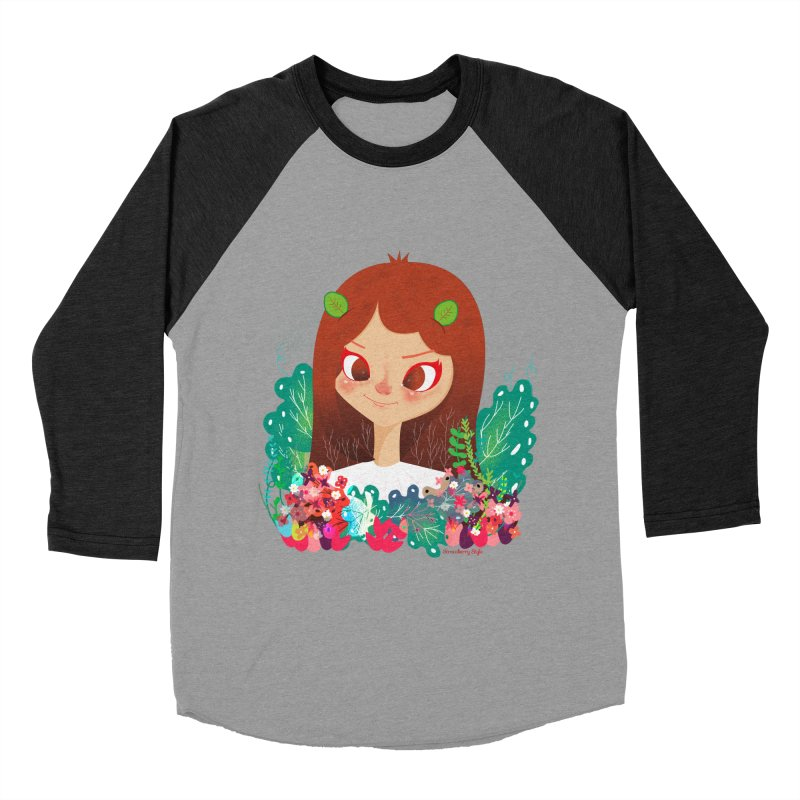 Floral Women's Baseball Triblend T-Shirt by strawberrystyle's Artist Shop