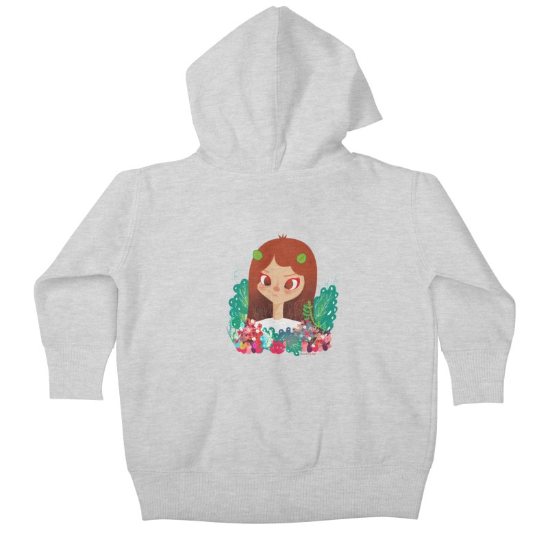 Floral Kids Baby Zip-Up Hoody by strawberrystyle's Artist Shop