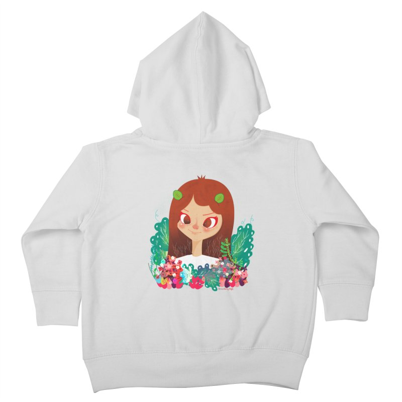Floral Kids Toddler Zip-Up Hoody by strawberrystyle's Artist Shop