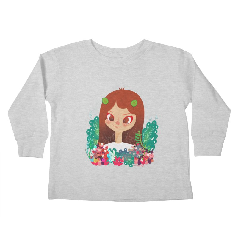 Floral Kids Toddler Longsleeve T-Shirt by strawberrystyle's Artist Shop