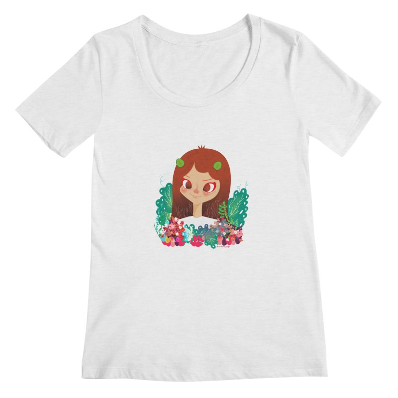 Floral Women's Scoopneck by strawberrystyle's Artist Shop