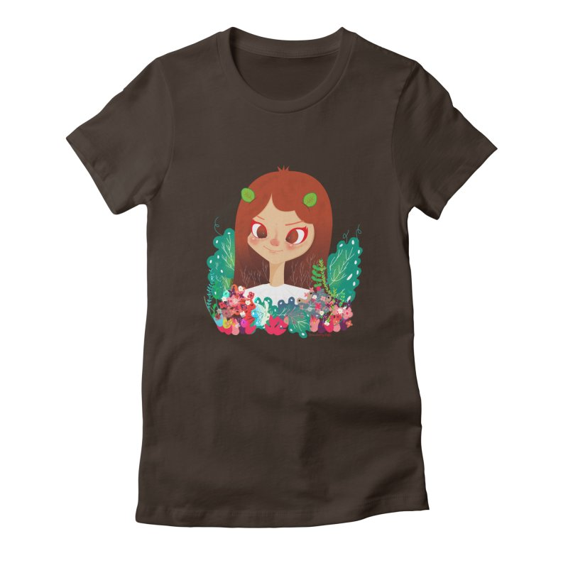 Floral Women's Fitted T-Shirt by strawberrystyle's Artist Shop