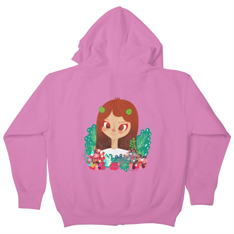 Floral Kids Zip-Up Hoody by strawberrystyle's Artist Shop