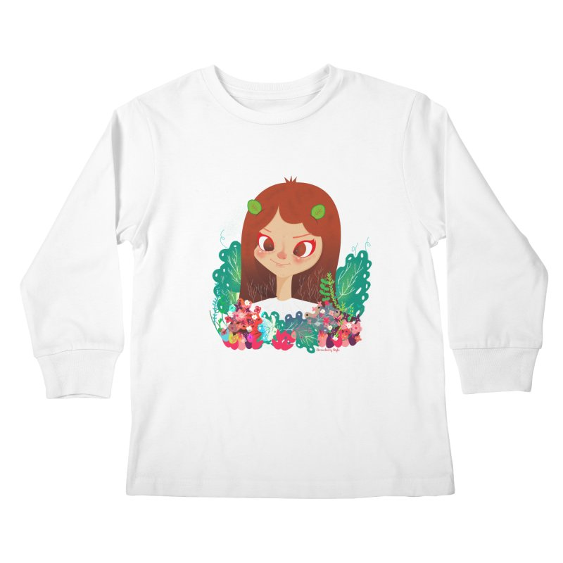 Floral Kids Longsleeve T-Shirt by strawberrystyle's Artist Shop