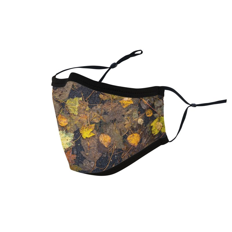 Wet Leaves Accessories Face Mask by Street Sheets