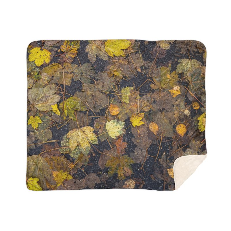 Wet Leaves Home Blanket by Street Sheets