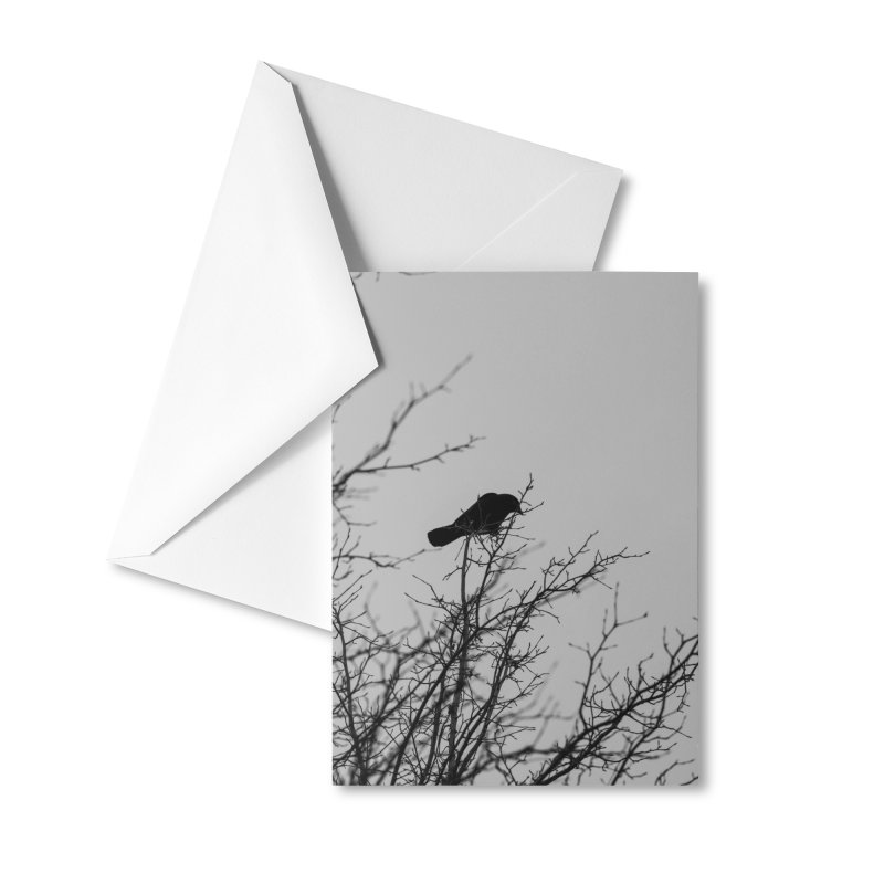 Crow Tree Accessories Greeting Card by Street Sheets