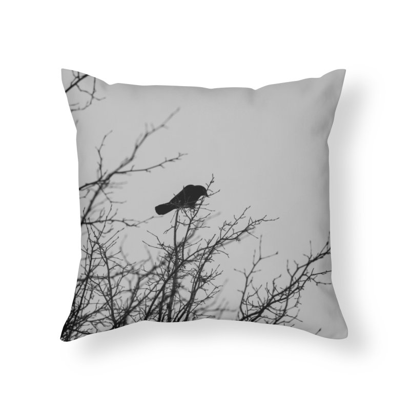 Crow Tree Home Throw Pillow by Street Sheets