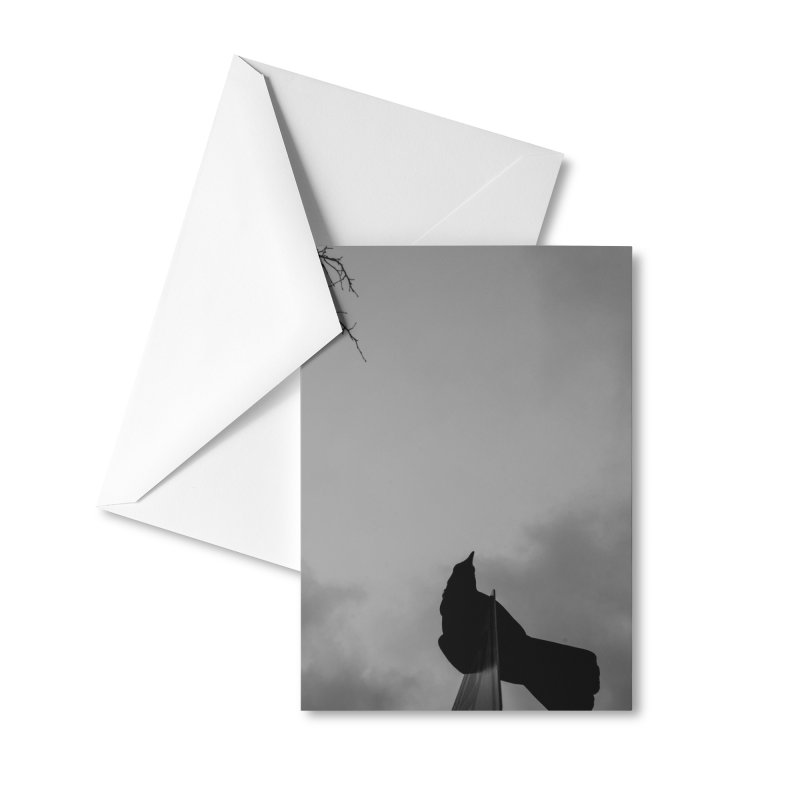 Crow Sky Accessories Greeting Card by Street Sheets
