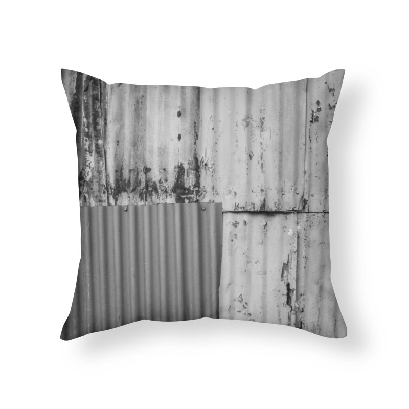 Metal Wall Home Throw Pillow by Street Sheets