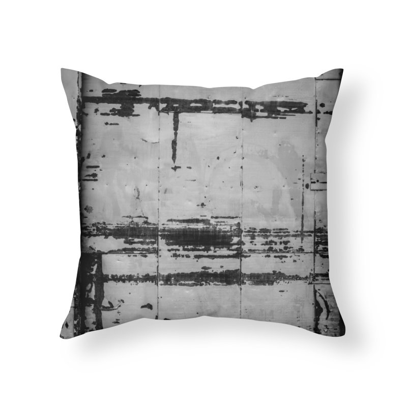 Rough Wall Home Throw Pillow by Street Sheets