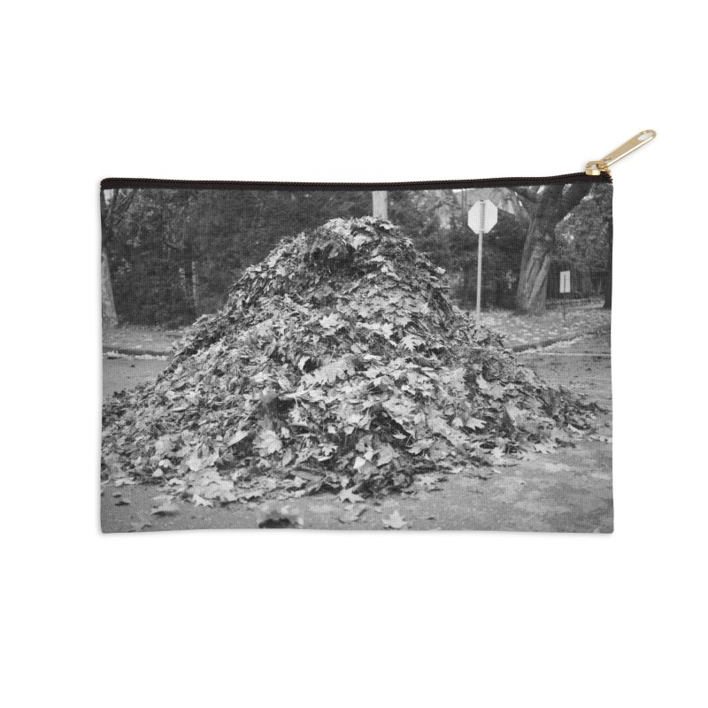 Leaf pile Accessories Zip Pouch by Street Sheets