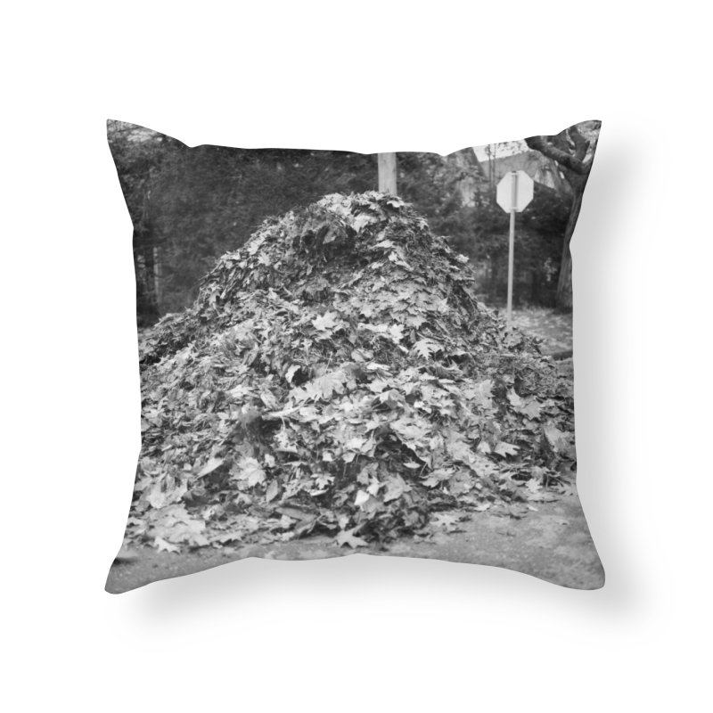 Leaf pile Home Throw Pillow by Street Sheets