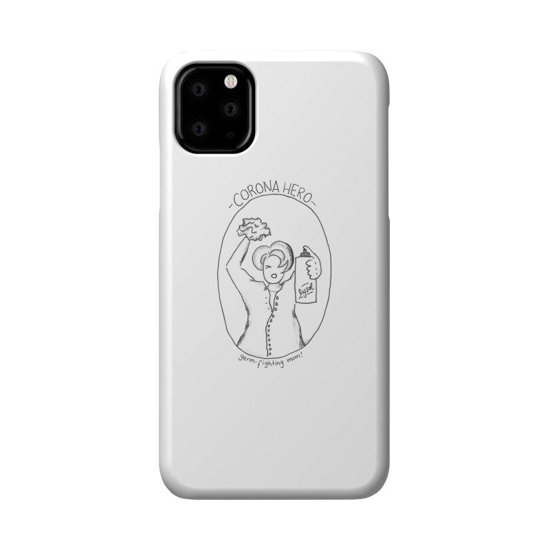 Corona Hero: Mom Accessories Phone Case by stresscartooning's Artist Shop