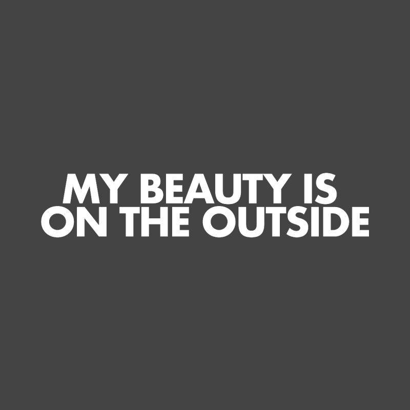 My Beauty is on the Outside Women's V-Neck by STRIHS
