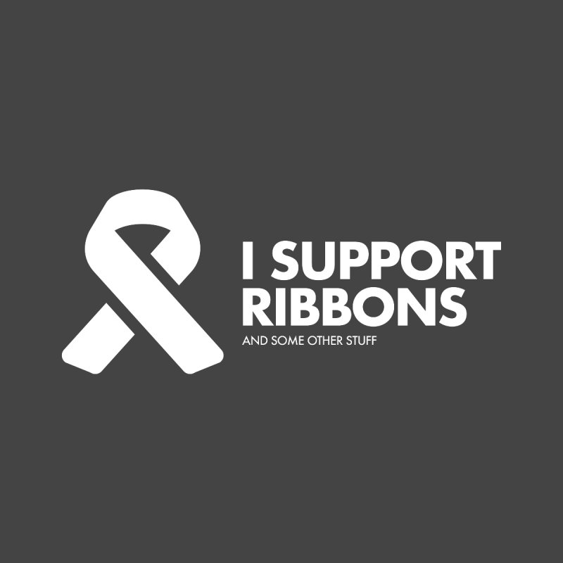 I Support Ribbons Home Stretched Canvas by STRIHS