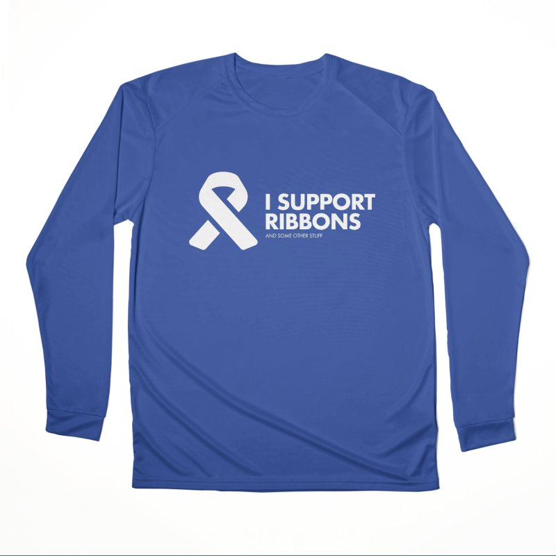 I Support Ribbons Women's Longsleeve T-Shirt by STRIHS