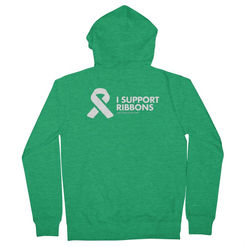 I Support Ribbons Men's Zip-Up Hoody by STRIHS