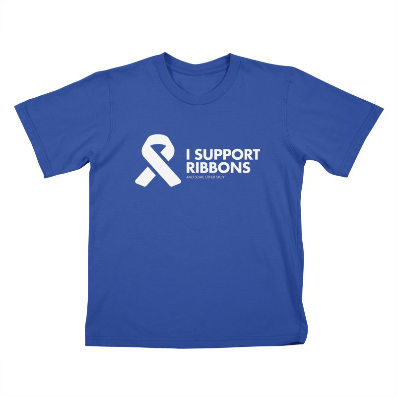 I Support Ribbons Kids T-Shirt by STRIHS