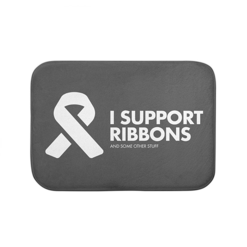 I Support Ribbons Home Bath Mat by STRIHS