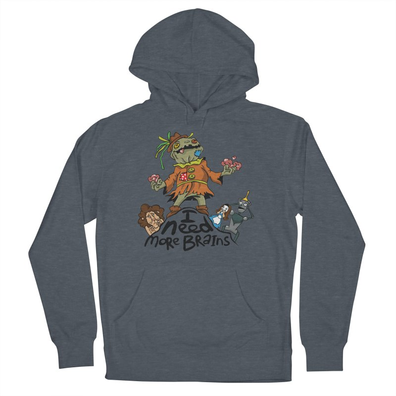 I need more brains Men's French Terry Pullover Hoody by Universe Postoffice