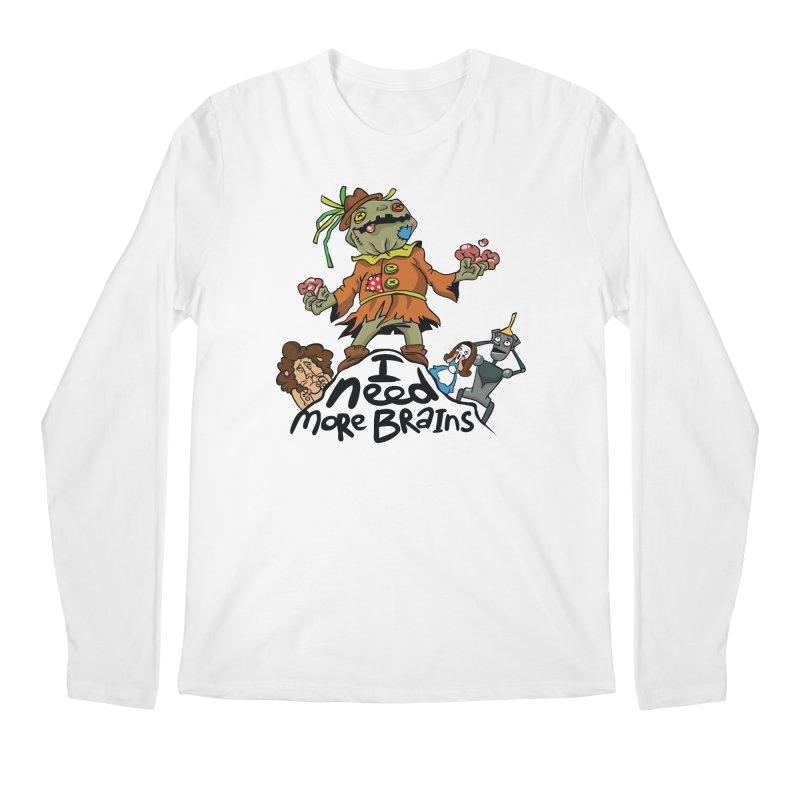 I need more brains Men's Longsleeve T-Shirt by Universe Postoffice