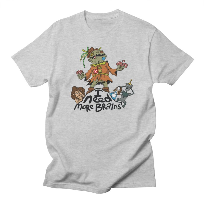I need more brains Men's T-shirt by Universe Postoffice