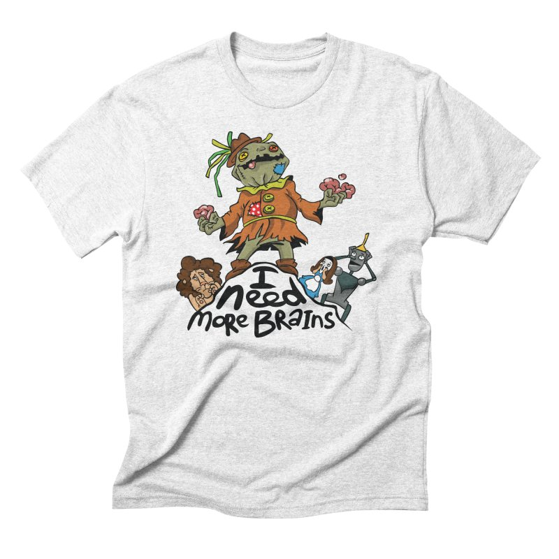 I need more brains Men's Triblend T-shirt by Universe Postoffice