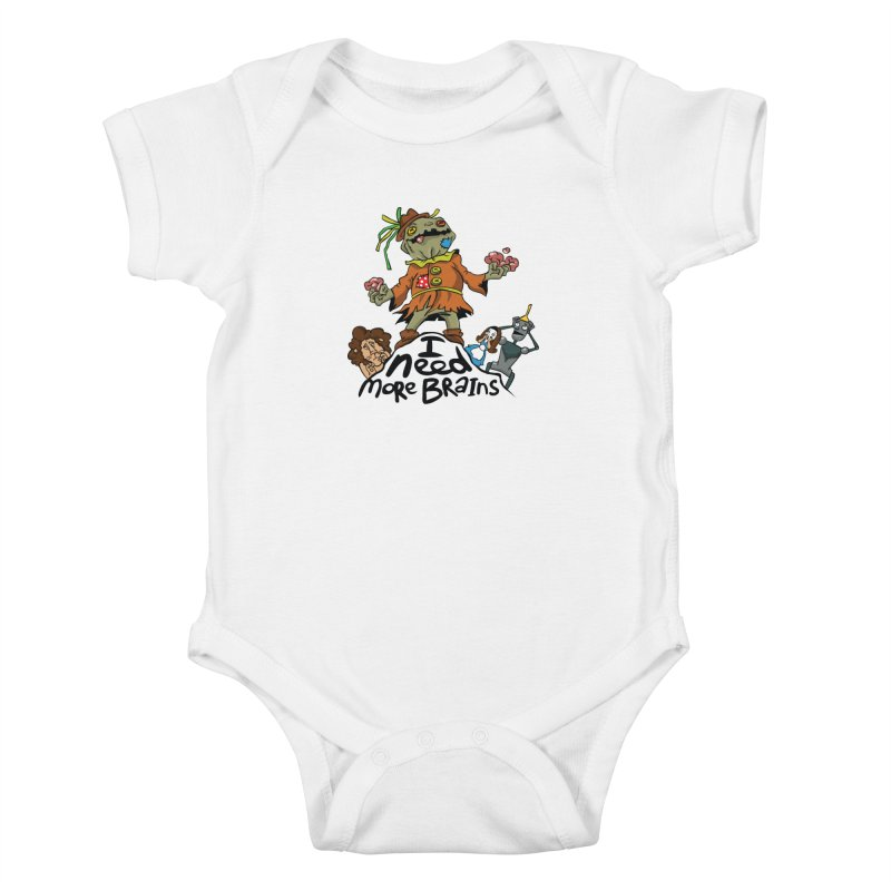 I need more brains Kids Baby Bodysuit by Universe Postoffice