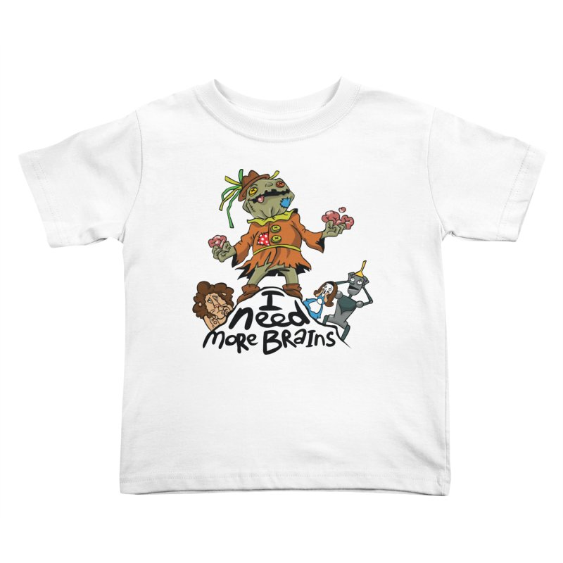 I need more brains Kids Toddler T-Shirt by Universe Postoffice