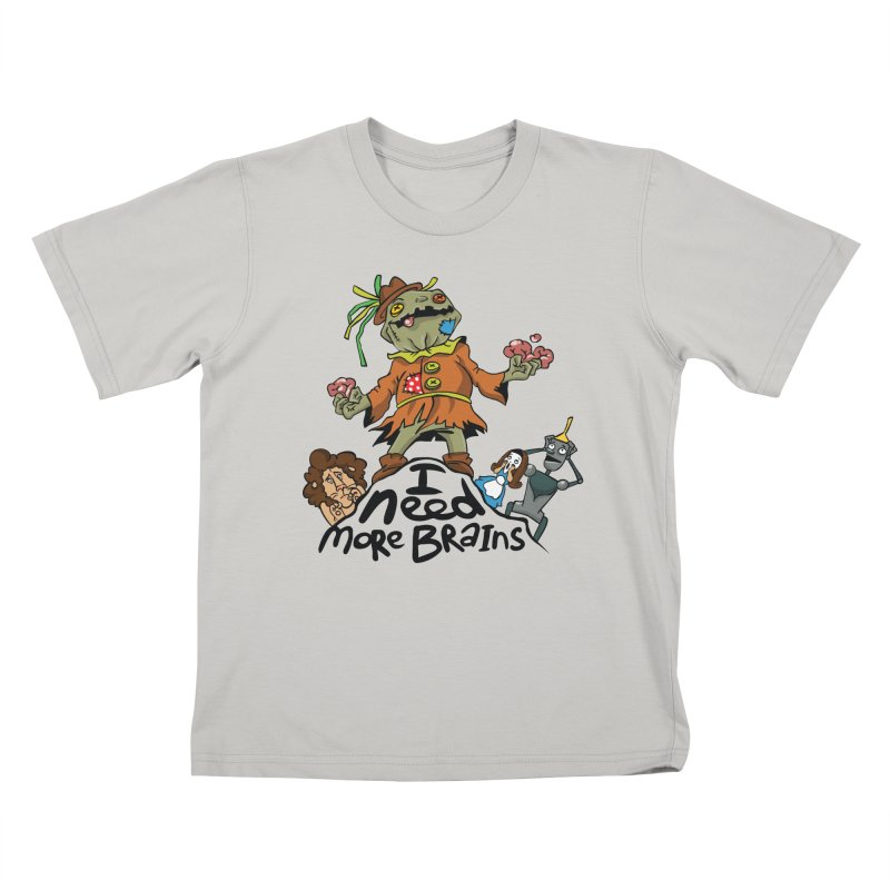 I need more brains Kids T-Shirt by Universe Postoffice