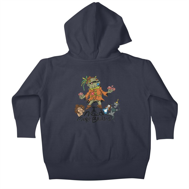 I need more brains Kids Baby Zip-Up Hoody by Universe Postoffice