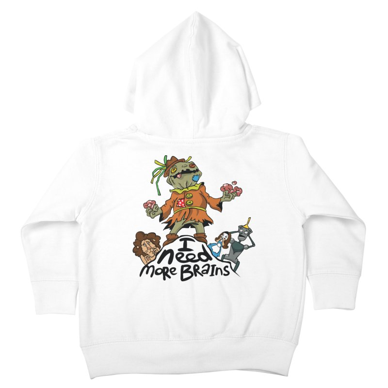 I need more brains Kids Toddler Zip-Up Hoody by Universe Postoffice