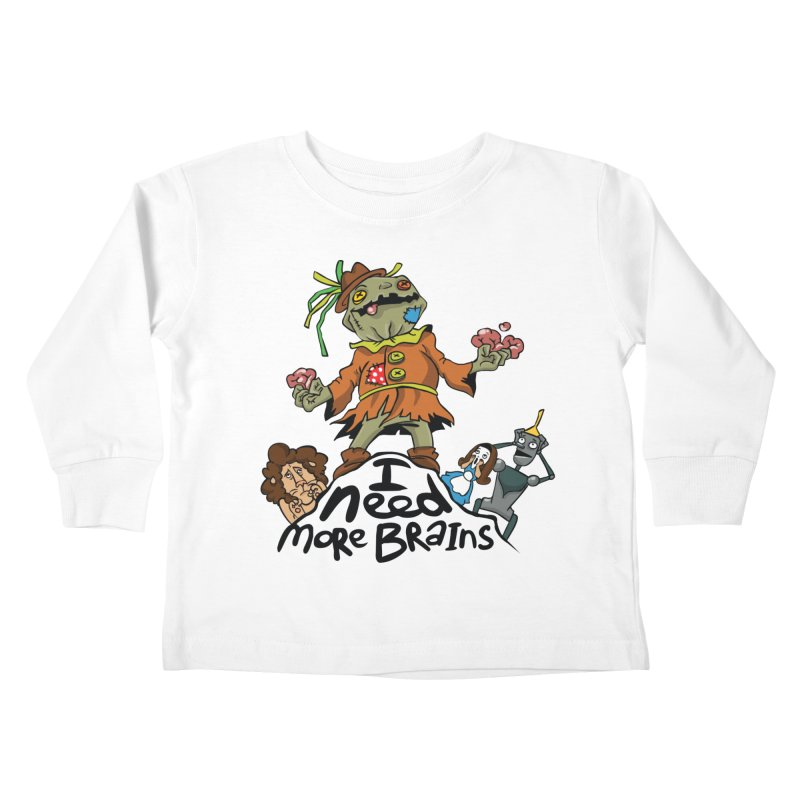 I need more brains Kids Toddler Longsleeve T-Shirt by Universe Postoffice