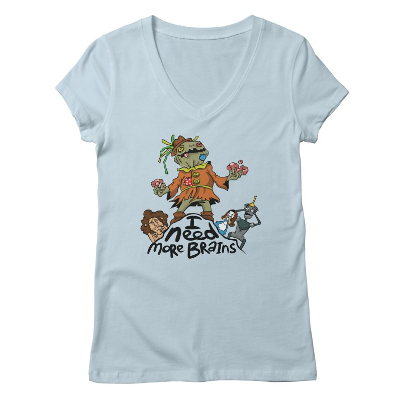 I need more brains Women's Regular V-Neck by Universe Postoffice