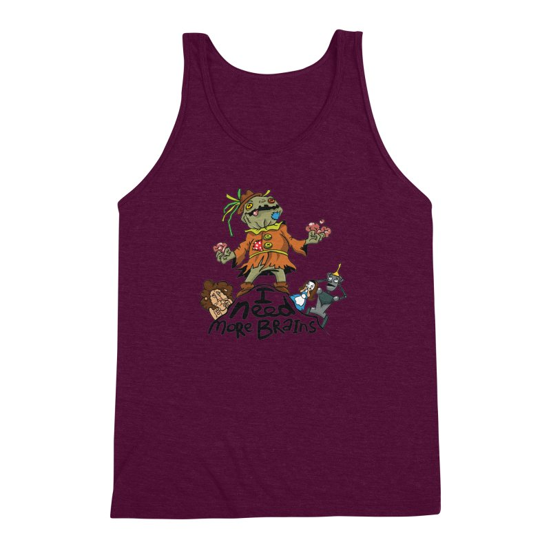 I need more brains Men's Triblend Tank by Universe Postoffice