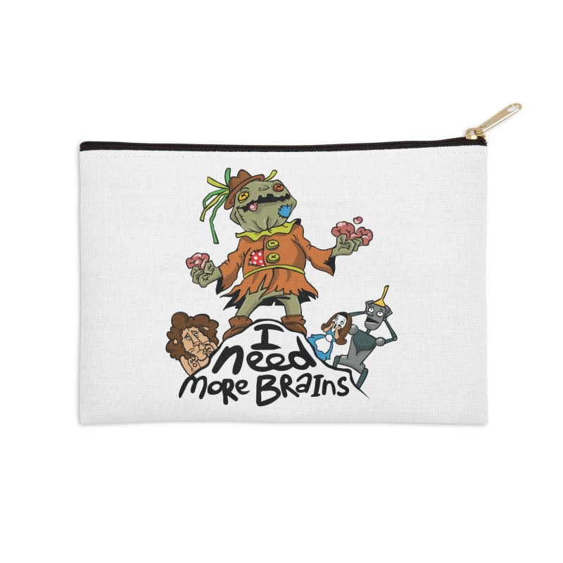 I need more brains Accessories Zip Pouch by Universe Postoffice