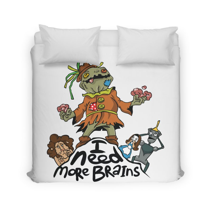 I need more brains Home Duvet by Universe Postoffice