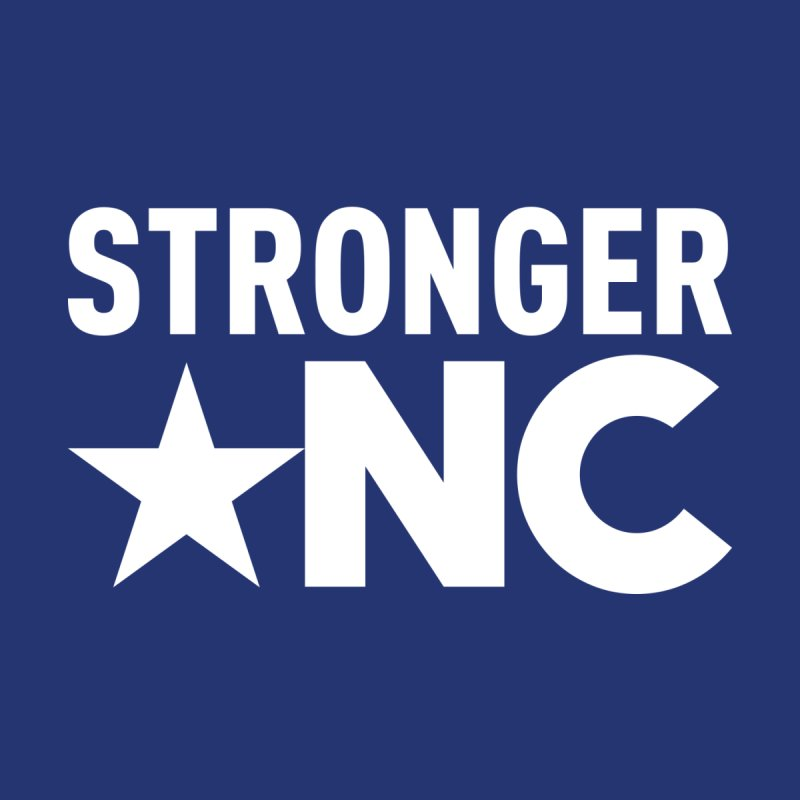 StrongerNC White Logo Kids Longsleeve T-Shirt by Stronger NC